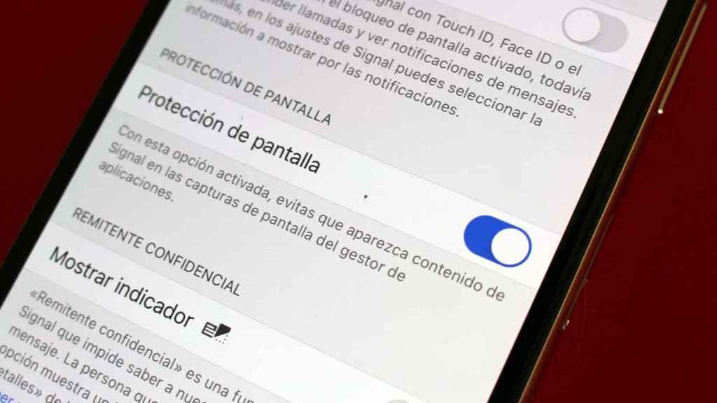 Signal permite bloquear las capturas de pantalla.