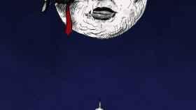 La luna llena sobre Washington