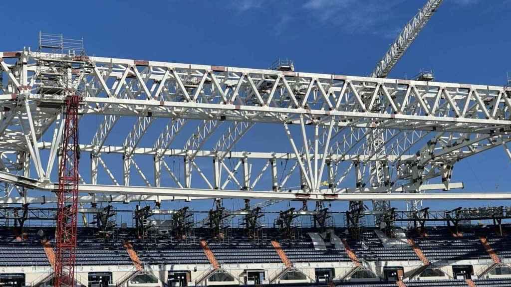 Avanza la nueva cubierta norte del Santiago Bernabéu