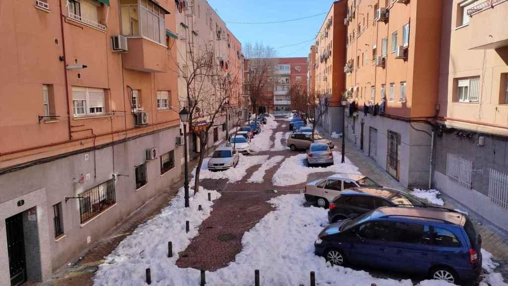 La calle Benadalid (Madrid), este lunes.
