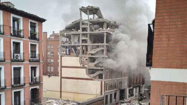 Imagen de la explosión en la calle Toledo