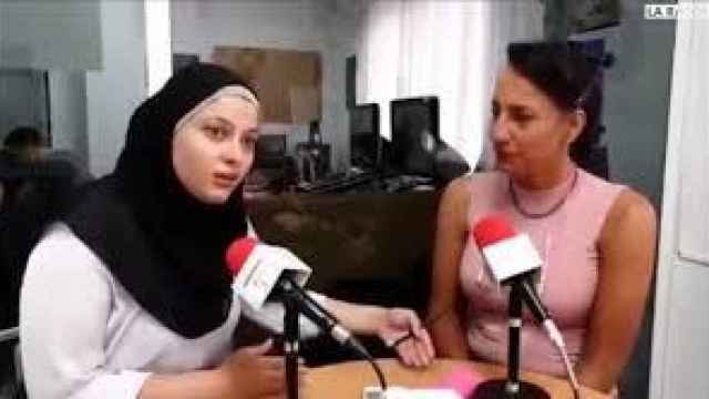 Nora Baños y Tina Recio en la entrevista que ya había generado polémica en febrero.