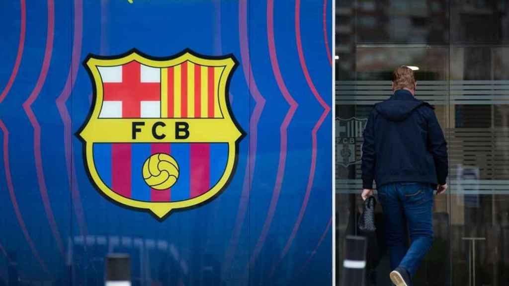 Koeman entrando a las oficinas del Barça