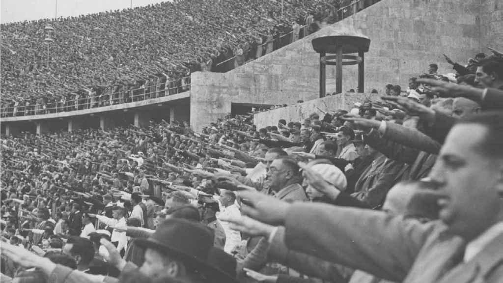 Inauguración de los JJOO de Berlín, el 1 de agosto de 1936.
