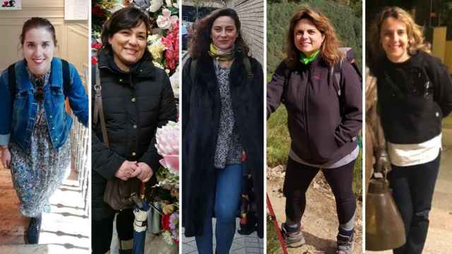 Por orden: Tasula, Elvira, Susana, Beatriz y Teresa.