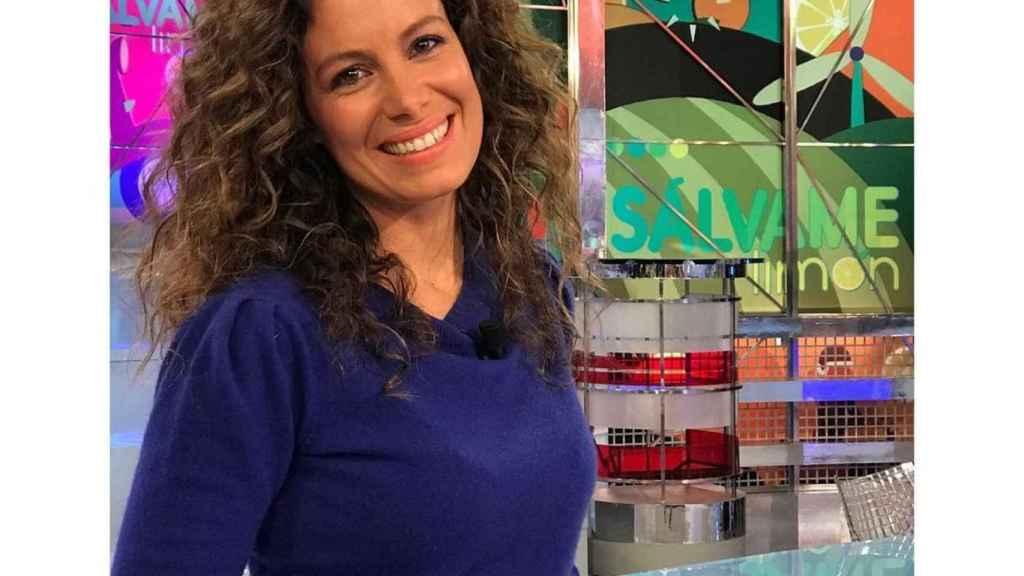 Laura Madrueño presenta 'El Tiempo' en Telecinco.