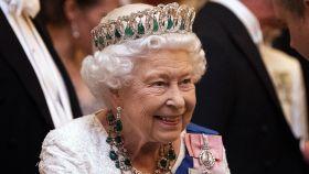La reina Isabel II en una recepción de diplomáticos en 2019 en Londres.