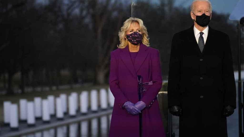 Jill y Joe Biden, durante un acto en Washington.