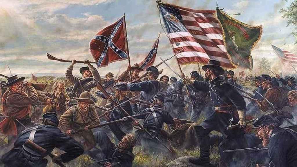Representación de la Guerra Civil americana.