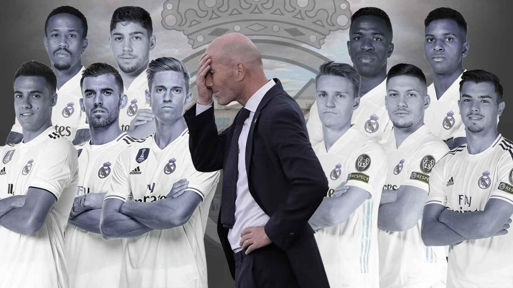 Zidane se atasca con el cambio de generación del Real Madrid