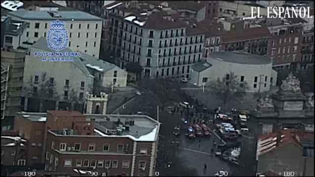 Vista aérea de la explosión de calle Toledo