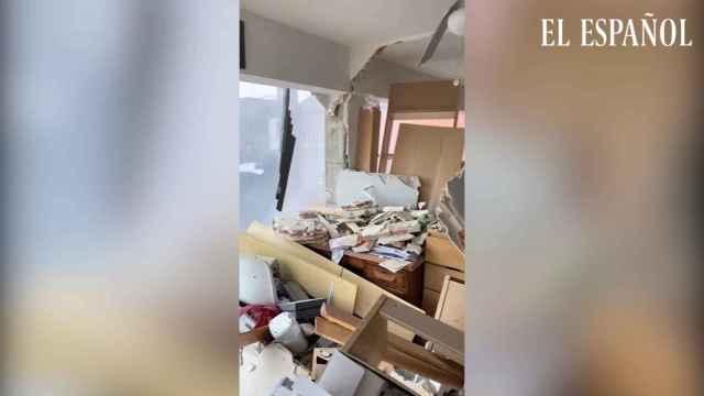 Imágenes desde dentro del edificio minutos después de la explosión