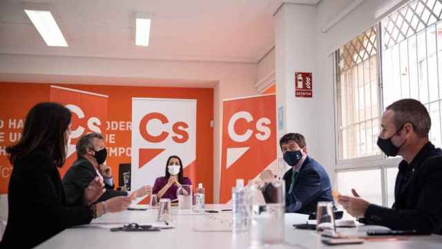 La presidenta de Cs, Inés Arrimadas, en la reunión del comité autonómico del partido en Andalucía.