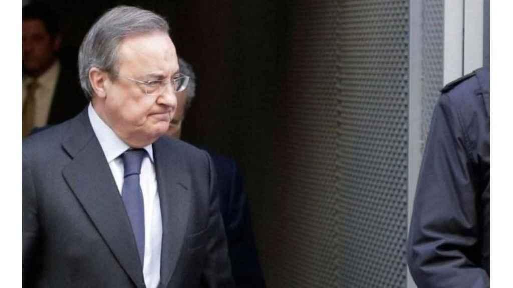 Florentino Pérez, en una imagen de archivo saliendo de la Audiencia Nacional./