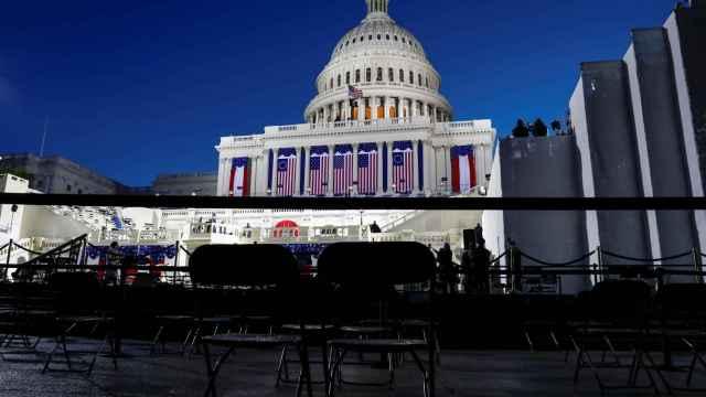 El Capitolio listo para la inauguración del mandato de Biden.