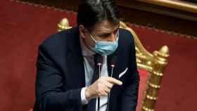 Giuseppe Conte, en el Senado.