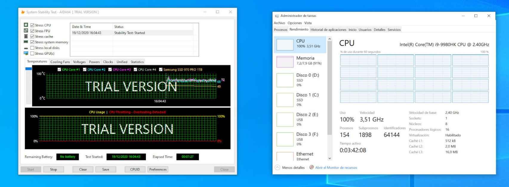 El Intel NUC 9 reduce la frecuencia del procesador durante duras cargas