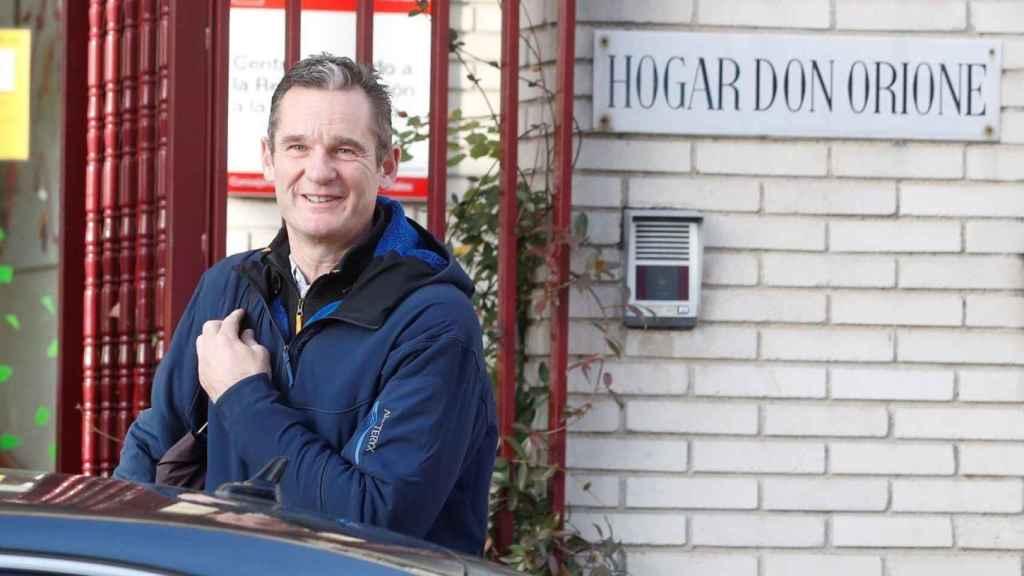 Iñaki Urdangarín, en una de sus visitas al Hogar Don Orione.