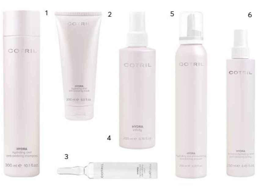 Estos son los productos recomendados de Cotril para tratar el cabello deshidratado.