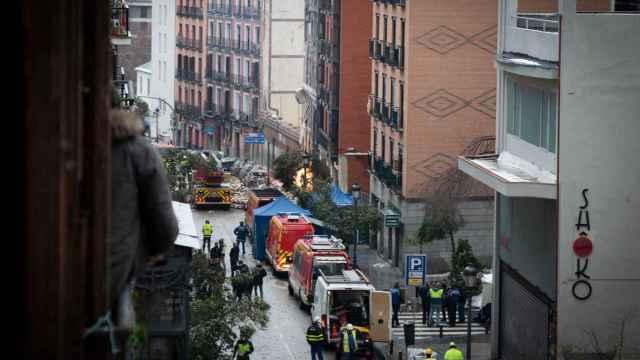 La calle Toledo de Madrid, tras la explosión.