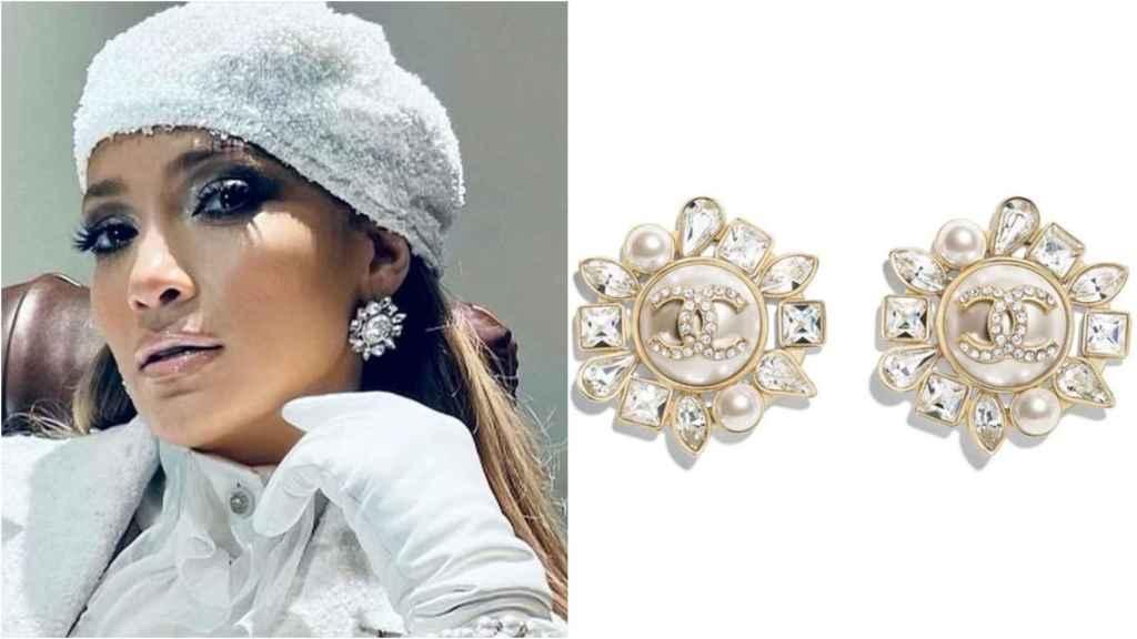 Jennifer Lopez y los pendientes de Chanel que eligió para su 'look' en Washington.