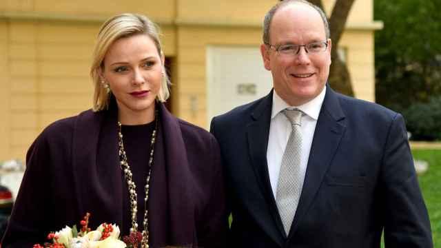Charlène de Mónaco junto a su marido en una imagen de archivo.