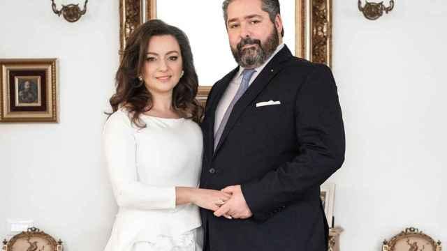 Jorge Romanov y Rebecca Bettarini.