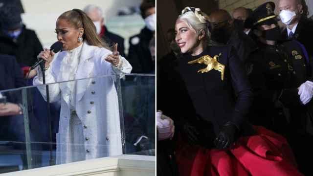 Jennifer Lopez y Lady Gaga, en la investidura de Joe Biden.