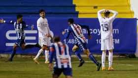 Fede Valverde se lamenta del gol del Alcoyano