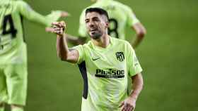 Luis Suárez celebra su gol