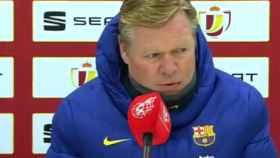 Ronald Koeman, en rueda de prensa de la Copa del Rey