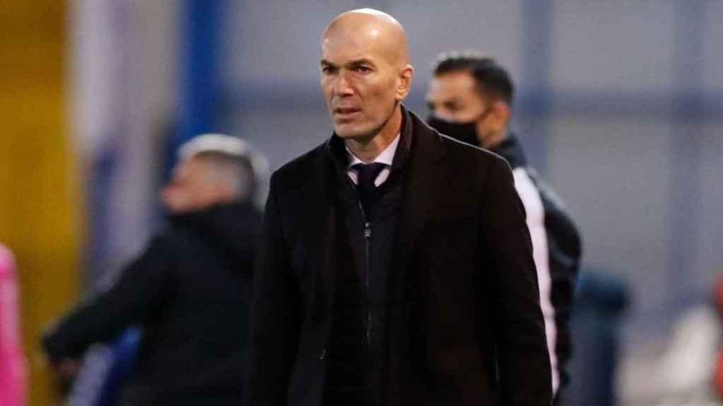 Zinedine Zidane, durante el Alcoyano - Real Madrid de la Copa del Rey