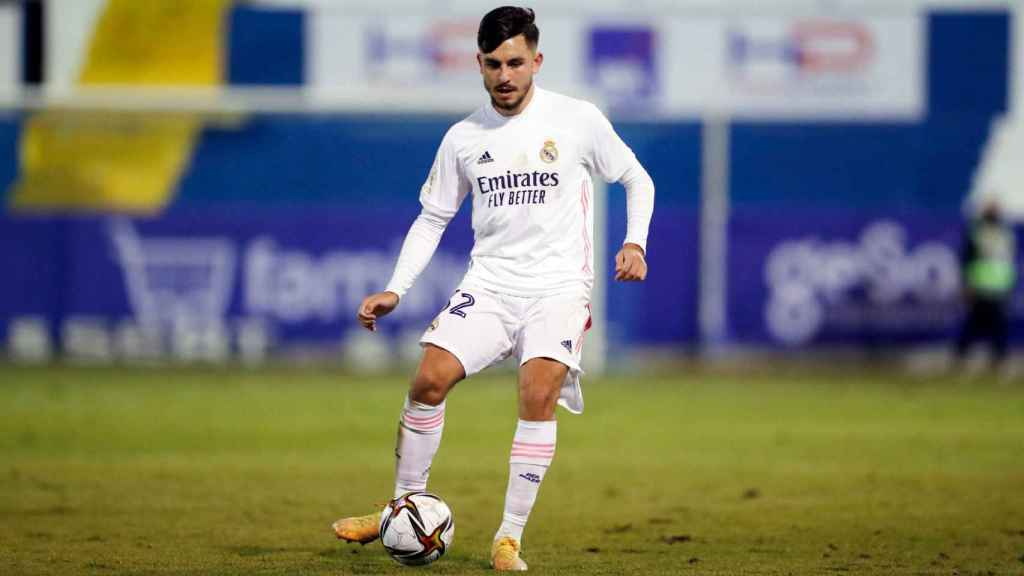 Víctor Chust, en su debut con el Real Madrid