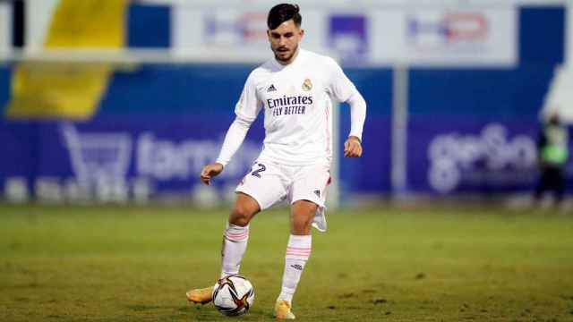 Víctor Chust, en su debut con el Real Madrid