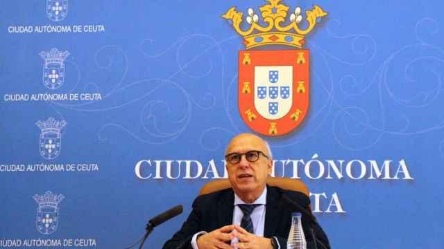 El consejero de Sanidad de Ceuta, Javier Guerrero, durante una comparecencia este jueves