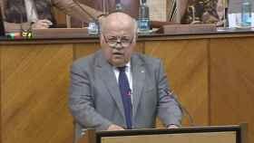 Aguirre en su comparecencia de este jueves en el Parlamento Andaluz
