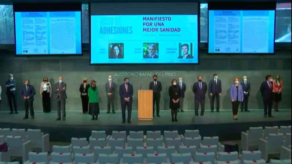 Un momento durante el acto de adhesiones al manifiesto de la Fundación IDIS.