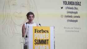 Yolanda Díaz, en el acto de Forbes Summit Women.