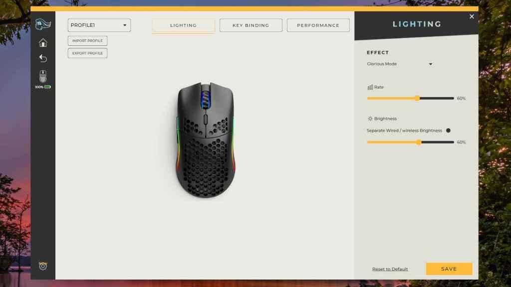 El programa oficial de Glorious permite personalizar el ratón
