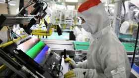 Producción de pantallas OLED de Samsung