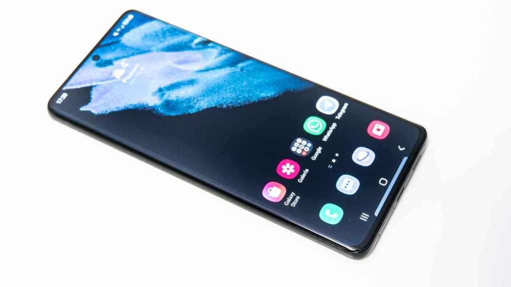 El Samsung Galaxy S21 Ultra tiene una pantalla de 6,8 pulgadas.