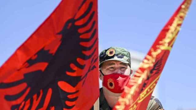 Protesta en Kosovo.