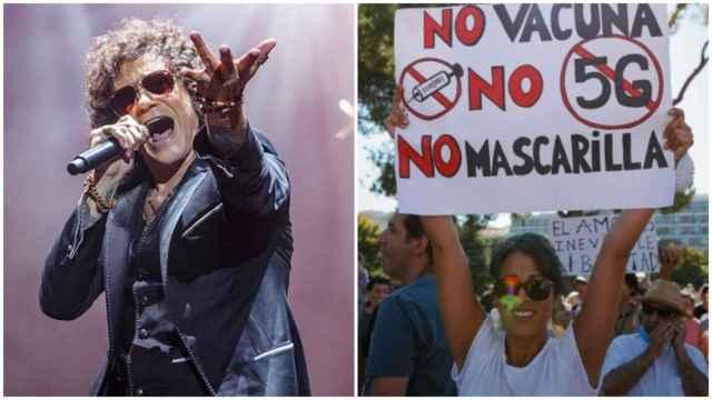 Quién manda en los negacionistas de España, de marcha el sábado, con sorpresas como Bunbury