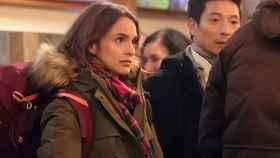 Verónica Echegui en el rodaje de '3 Caminos'.