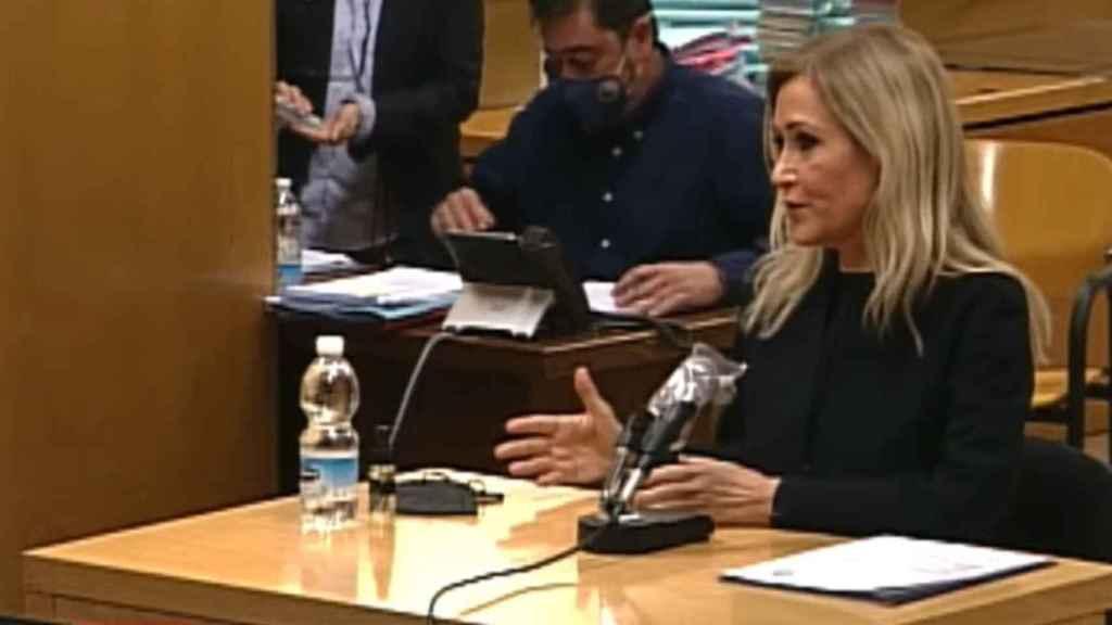 Cristina Cifuentes, en el banquillo de la Audiencia Provincial de Madrid.