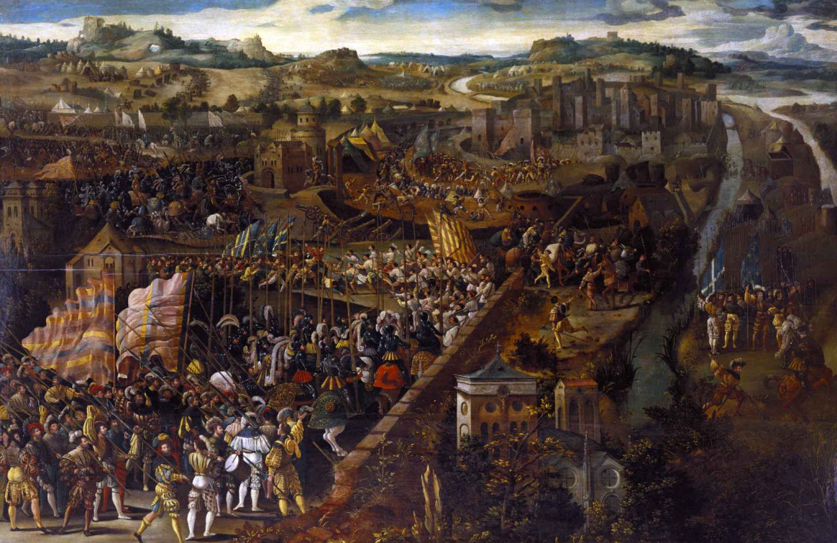 Lienzo de la batalla de Pavía, de autor desconocido.