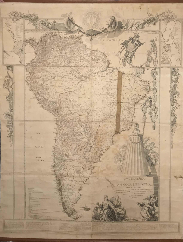 El Mapa de América Meridional de 1771 que pudo poner en jaque a Carlos III.
