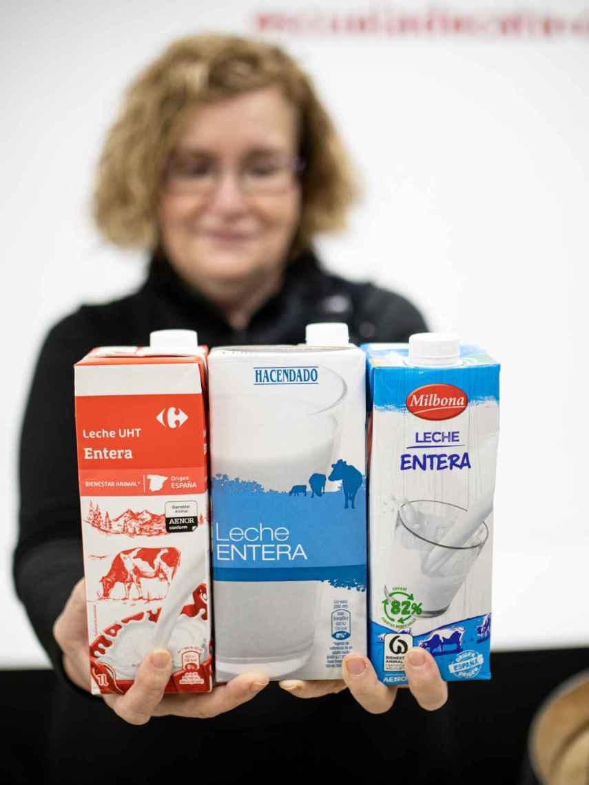 Las tres mejores leches enteras de marcas blancas de supermercado para Carmen Garrobo.