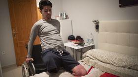 Daniel  Gómez perdió las dos piernas en un incendio ocurrido en Granada el 14 de diciembre de 2019.