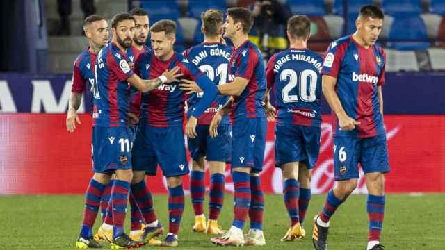 El Levante celebra un gol
